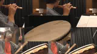 【篠笛&和太鼓で】ボーダーブレイク ロンシャ東BGM【ぴーひゃらどんが】