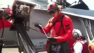 M61バルカンへの給弾方法(手動)