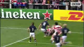 【W杯ラグビー】日本 対 スコットランド