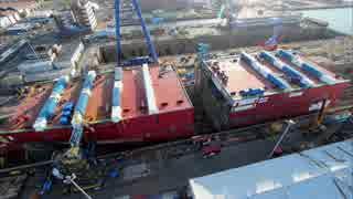 QE級航空母艦2番艦 プリンス・オブ・ウェールズ 建造中