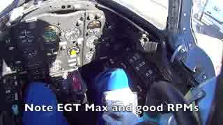 MiG-15エンジン始動から離陸まで(コクピット視点)