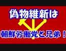 偽物維新は朝鮮労働党と兄弟!