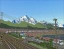 新VRM3★奥中山大カーブ春景色E351系、E257系