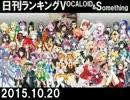 日刊ランキングVOCALOID&something【日刊ぼかさん2015.10.20】
