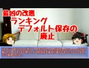 第84位:【ゆっくり雑談】ランキング表示が変更された件について語るUC thumbnail