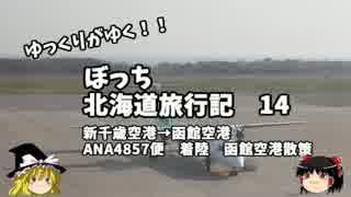 【ゆっくり】北海道旅行記 14 新千歳→函館 ANA4857便着陸 函館編 thumbnail