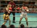 女子キックボクシング ボディブローKO