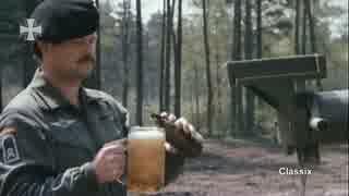 砲身にビールジョッキを置き爆走するレオパルド2