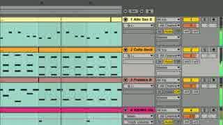 【DTM】Ableton Live 9 Suite付属の音源のみで曲をサクッと作ってみたMIX