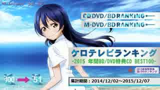 年間アニソンランキング 2015 BD/DVD BEST 100【ケロテレビ】51-100