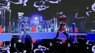 【MMD】HYBRID【ネギドリル】【初音ミク】【重音テト】