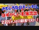 【はずかしい名簿流出】 22万人分の顧客リスト!