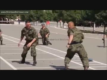 ロシア特殊部隊の軍隊格闘術パフ...