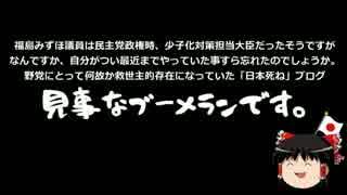 社民党、日本死ねブログの使いすぎでブーメランを食らう&雑談