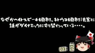 【ゆっくり保守】ネトウヨ違法化まった無し?は?