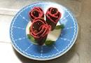 スライスチーズみたいなチョコレートでバラの花を作ってみた!