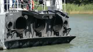 魚雷艇 T121スピカ エンジン始動