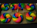 【色彩の暴力】レインボーベーグル作ってみた。