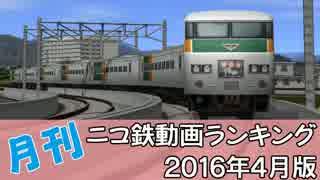 【A列車で行こう】月刊ニコ鉄動画ランキング2016年4月版
