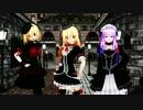 【東方MMD】 魔法使い3人がゴス服でFREELY TOMORROWを踊る (改造モデル)