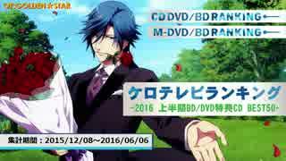 上半期アニソンランキング 2016 BD/DVD BEST 50【ケロテレビ】