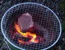 [厚切り]国産牛ヒレ肉塊の炭火焼きステーキ~レア仕立て