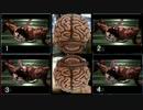 【実況】 バイオ2を8足ペダルと4PS片コンを使い 4画面同時プレイ part2