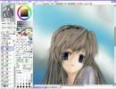 【ニコニコ動画】SAIで坂上智代を描いてみた(ラフを描いたらすぐ色塗り4)を解析してみた