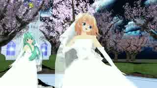 【東方MMD】SPiCa【アリス&早苗Weddingdressver】