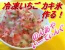 冷凍いちごカキ氷作る!【のんあや】