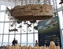 六本木の空に「ラピュタ」の巨大飛行船が浮かぶ