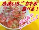 冷凍いちごカキ氷食べる!【のんあや】