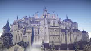 【Minecraft】ダークソウル3のロスリック城と大書庫を作ってみた