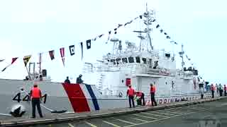 フィリピンに日本供与の巡視船トゥバタハが到着