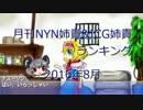 月刊NYN姉貴&ICG姉貴ランキング8月号