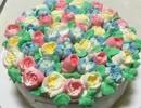 【みっこ】お花のケーキ作ってみた