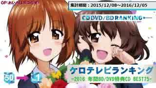 年間アニソンランキング 2016 BD/DVD特典CD BEST 75【ケロテレビ】