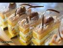 【秋の】モンブランケーキを作ってみた【年中作れる】