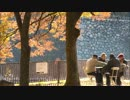 大阪城、秋の景色