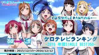 年間アニソンランキング 2016 SINGLE BEST 350【ケロテレビ】1-50