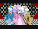 "【MMD】 ネコルリ3匹が踊る""PiNK CAT"""