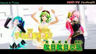【ニコカラ】スキスキ絶頂症【rink様 MMD-PVF Ver.】_ON Vocal