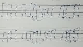 B'z『フキアレナサイ』6弦ギターTAB譜
