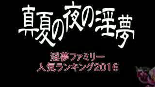 2016年 淫夢ファミリー人気ランキングTop100+α