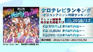 アニソンランキング 2016年12月【ケロテレビランキング】