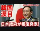 【韓国が震えた】 日本政府が報復発表!ス