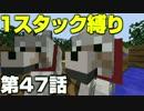 【minecraft縛りプレイ】1スタック縛りリベンジ 第47話