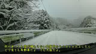 大雪であの大阪()もかなり積もった!からドライブしてみた