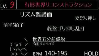 jubeat prop 新曲・新譜面 EXT LV.6~9一覧