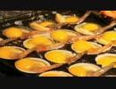 中国の屋台 海老とウズラの卵焼き